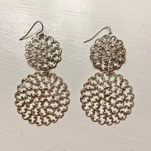 Sterling silver Susan Shaw Lace Earrings